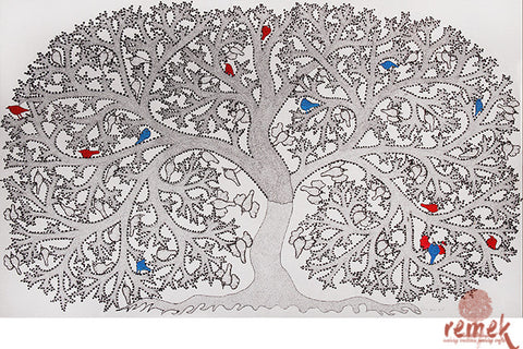 Gond Painting - Eternal Akshaya Vata