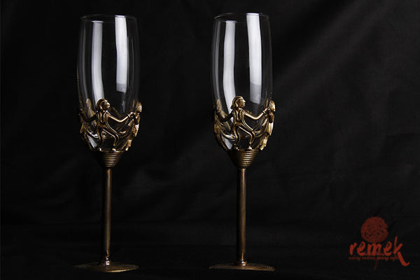 Dhokra Champagne Glass from Chattisgarh