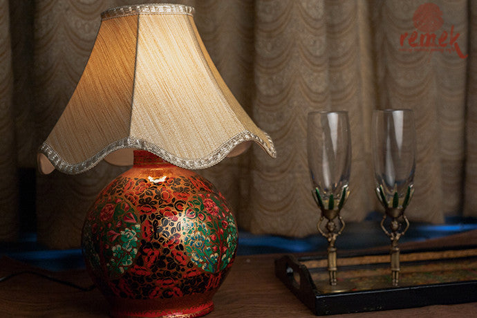"""Naquashi Art"" Hand-painted Table Lamp"