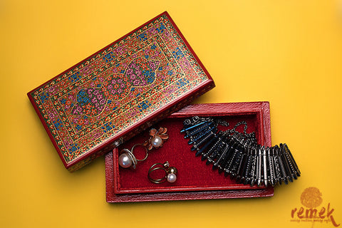"Handmade ""Naquashi Art"" Box from Kashmir"