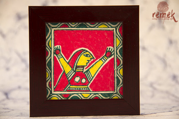 "Hand painted ""Manjusha Art"" Coasters from Bihar"