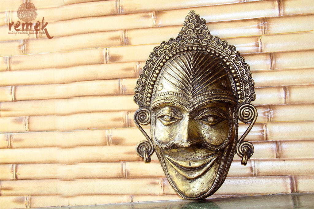 Antique Dhokra Mask