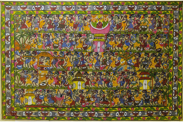 Santhal Painting - Life of Tribe