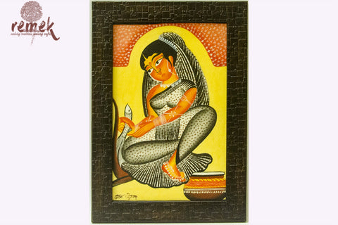Kalighat Painting - Beauty in Simplicity