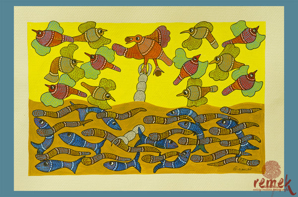 Gond Painting - Creation of Cosmos