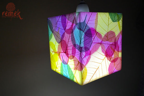 "Hand-painted ""Peepal Leaf Craft"" Hanging Lamp"