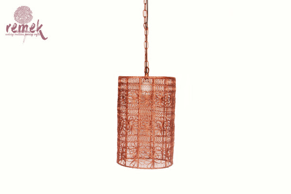 Moroccan Copper Flower Hanging Lantern