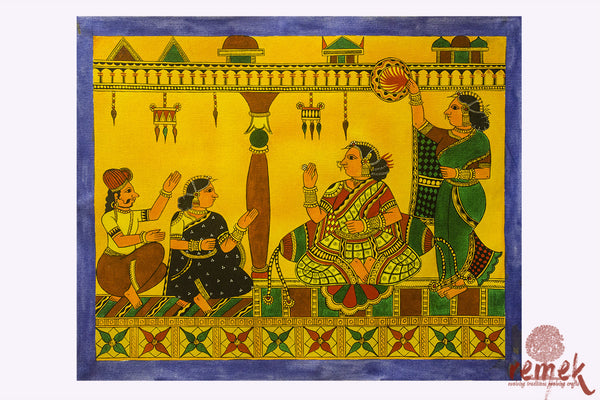 Chitrakathi Painting - Women in the Court