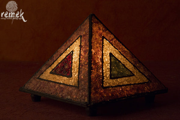 "Hand-made ""Gemstone Art"" multicolor Night Lamp"