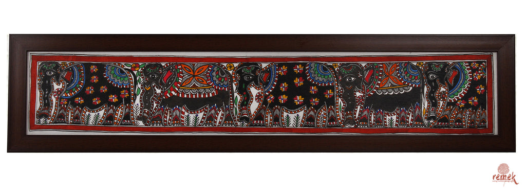 Madhubani Painting - Mighty Elephant