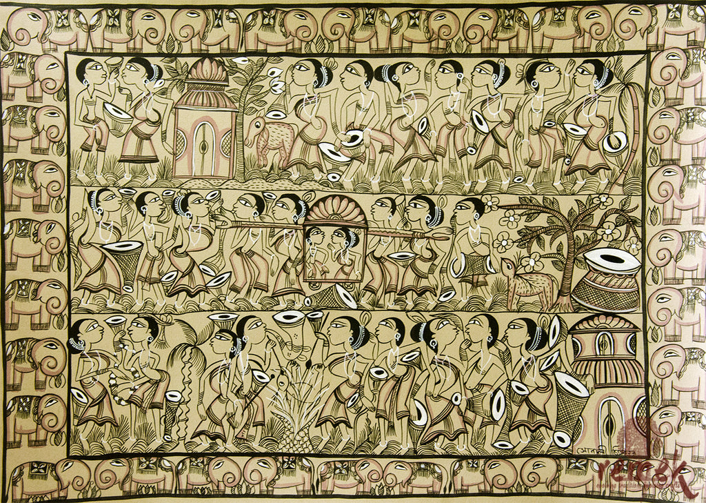 Santhal Painting - Tribal Marriage