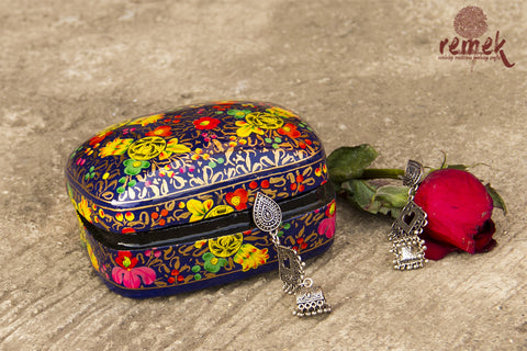Small Hand-Painted Naquashi Box - Beauty at Dawn