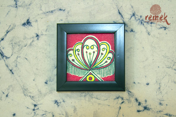 "Hand-painted ""Manjusha Art"" Coasters from Bihar"