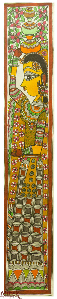 Madhubani Painting - Happiness of a Housewife