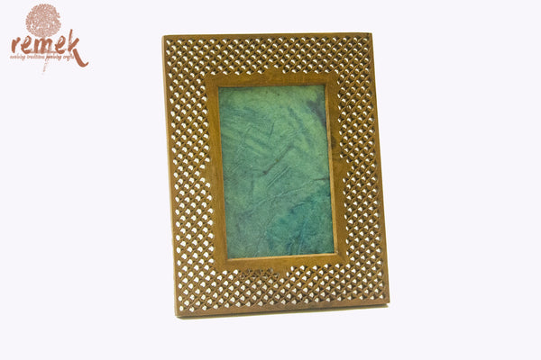 Hand-carved Wooden Photoframe