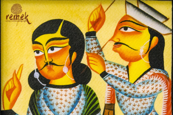 Kalighat Painting - Wicked Whisper