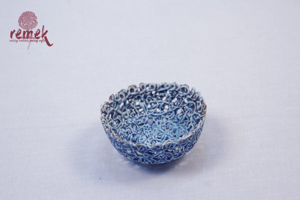Glazed Ceramic - Small Threaded Bowl