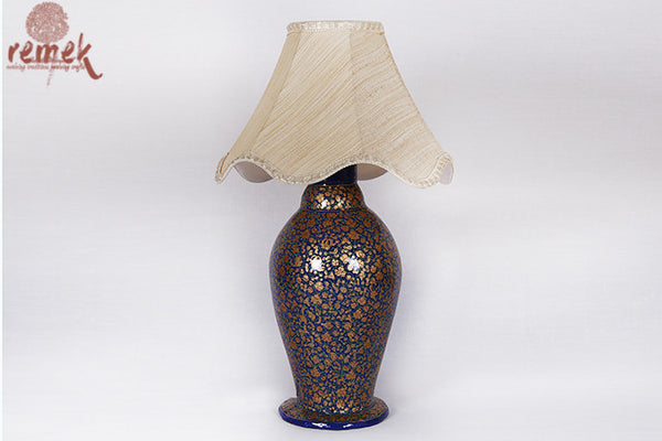 Hand painted Naquashi Lamp from Kashmir