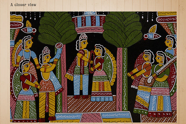 Tikuli Painting - Ram Sita Marriage