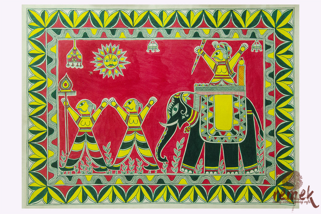 Manjusha Painting - Extravagant Marriage Possession