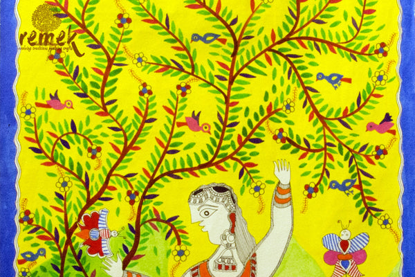 Madhubani Painting - Rejuvenating Spring