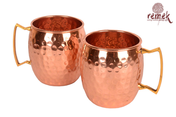 Copperware Art - A pair of Moscow mule Mugs