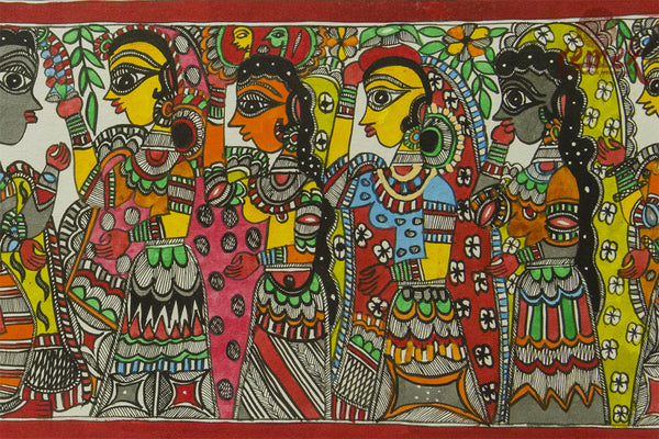 Madhubani Painting - Rama Sita Marriage