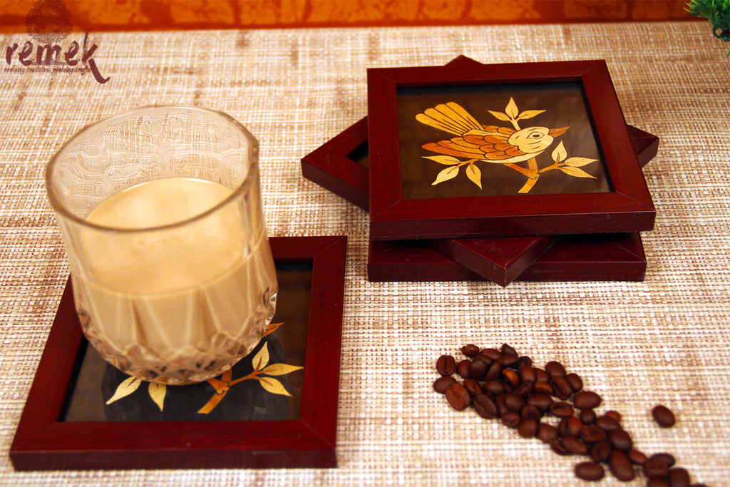 "Handmade ""Straw Craft"" Coasters - Silent Sparrow"