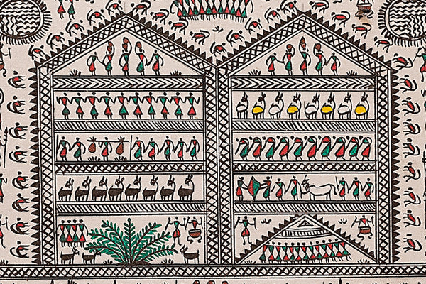 Saura Painting - Life of Tribe