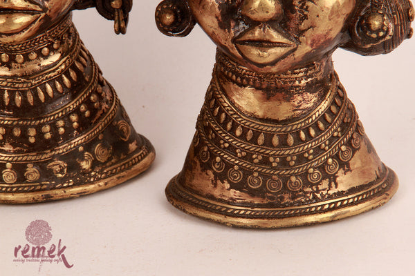 Antique Dhokra Tribal Pair