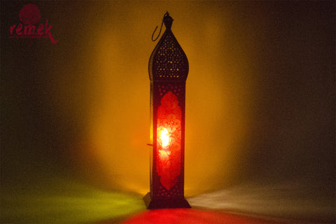 Moroccan Multicolor Tall Lantern