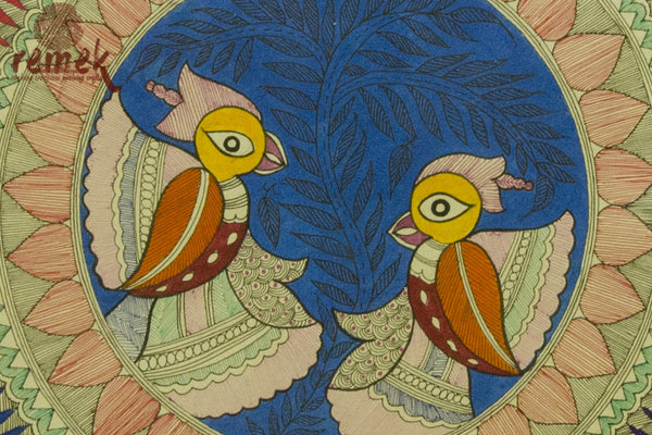 Madhubani Painting - Splendid Peacock