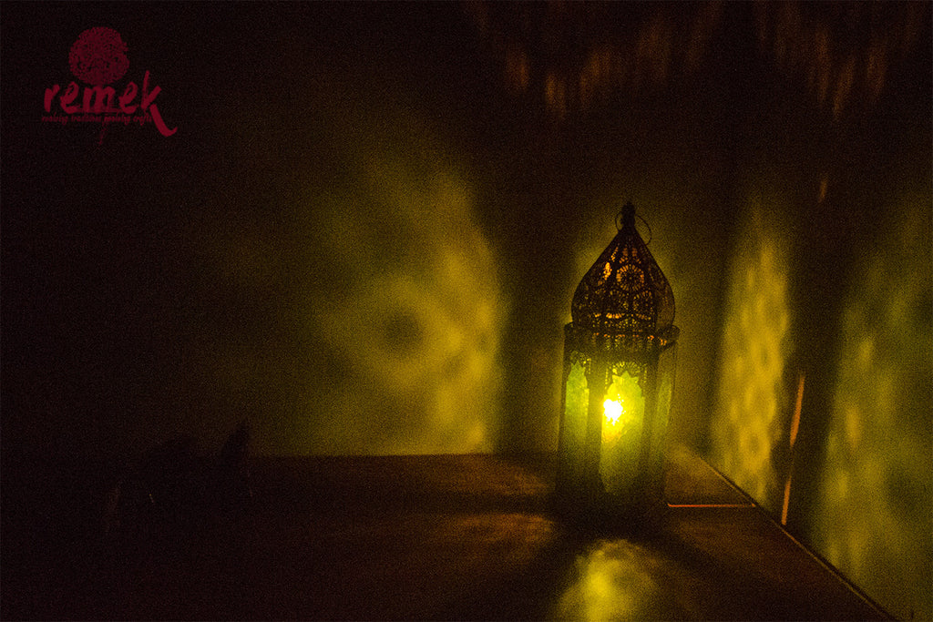 Moroccan Green Hexagon Lantern