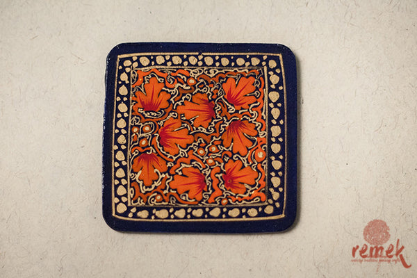"Handmade ""Naquashi Art"" Coasters from Kashmir"