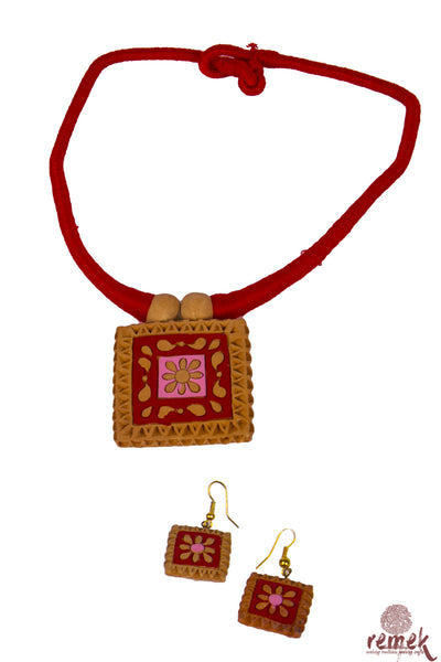 Terracotta Jewellery - Fiery Flames