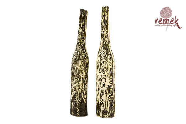 Glazed Smoked Ceramic - Pair of Decorative Vases