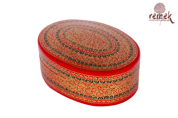Naquashi Box - Red Oval