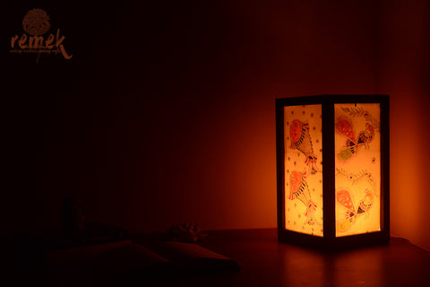 "Hand-painted ""Madhubani Art ""Table Lamp"
