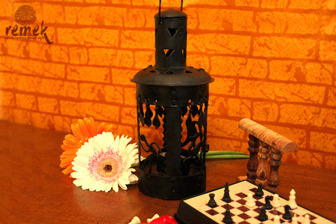 Handmade Bastar Wrought Iron Tea Light Holder