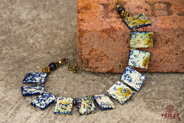 Terracotta Jewellery - Batik Antique Blue