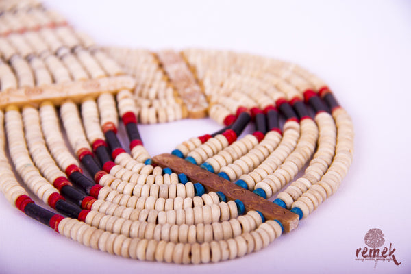 Beads Jewellery - Traditional Camel Bone Naga Necklace
