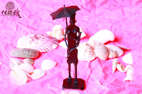 Bastar Wrought Iron Artefact - Woman with a Parasol