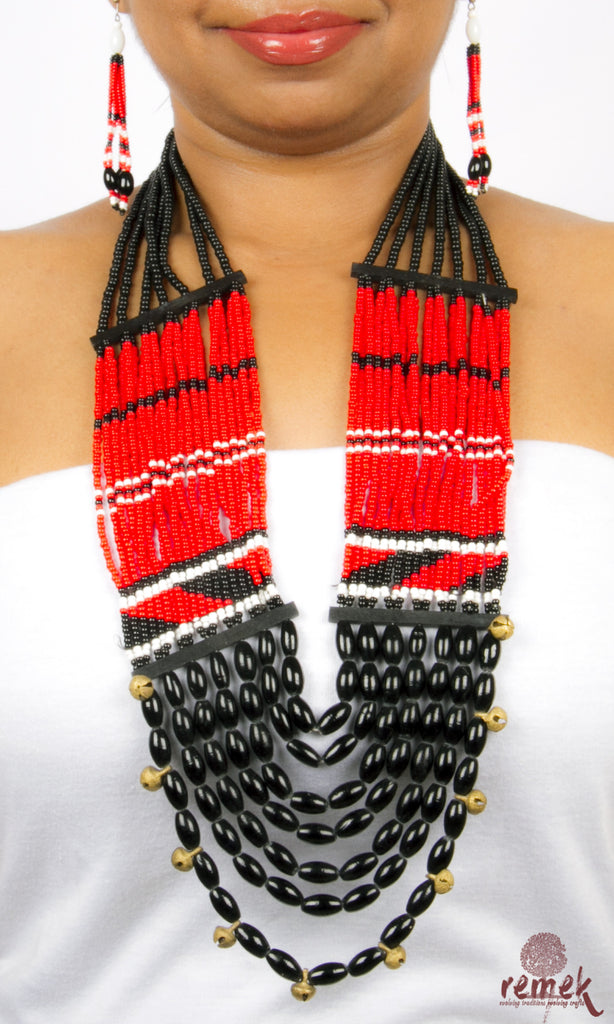 Beads Jewellery - Traditional Red Naga Necklace – Remek