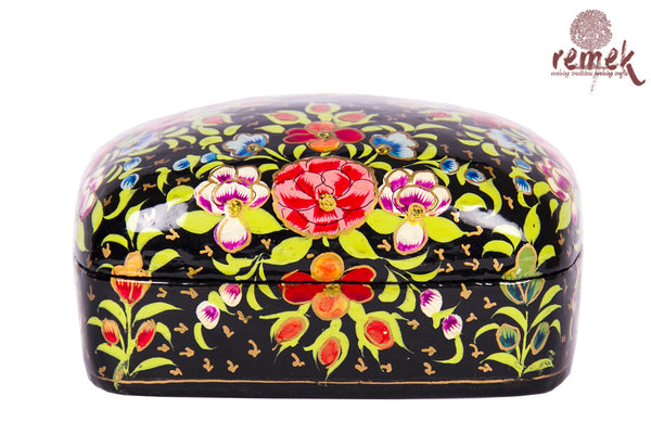 Small Hand-Painted Naquashi Box - Black Beauty