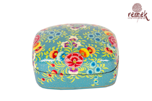 Small Hand-Painted Naquashi Box - Shade of Nature