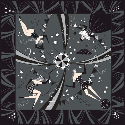 'Nights at the Circus'  - New Silk Scarf Coming Soon!