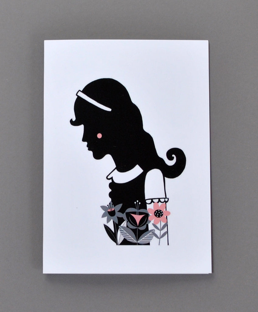 Alice in Wonderland Greetings Card - Alice - Su Owen Design