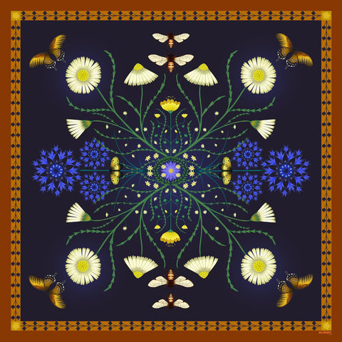'DAISY' Limited Edition Silk Scarf