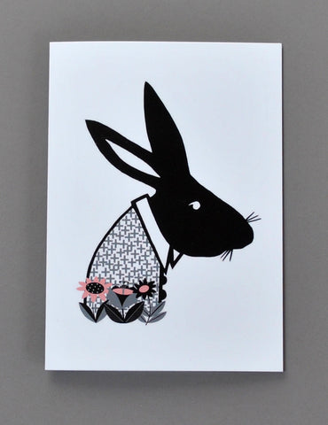 Alice in Wonderland Greetings Card - The March Hare - Su Owen Design