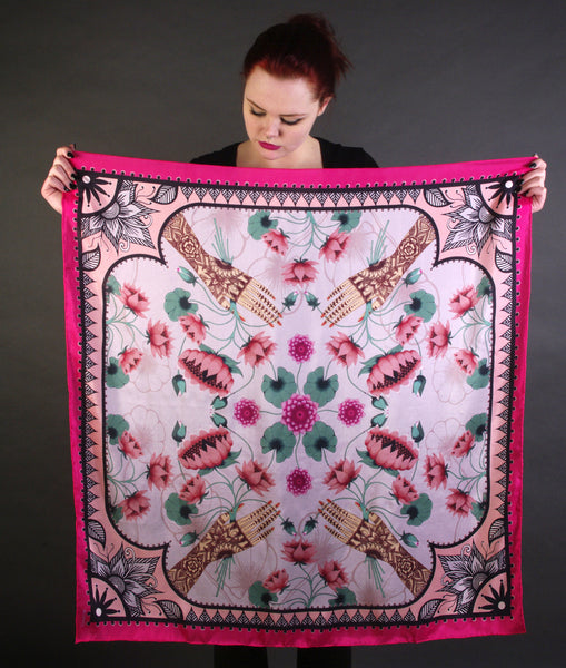 'LOTUS' Limited Edition Silk Scarf - Now on SALE! - Su Owen Design - 3